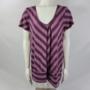 Maurices striped top plus size 2 2X